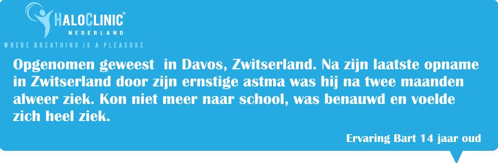 Ernstige astma, Astma ervaring, Davos Zwitserland,