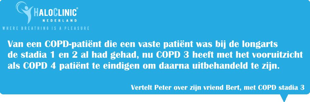 COPD stadia 1, COPD GOLD 2, COPD stadia 3, COPD GOLD 4.